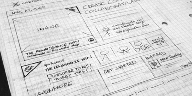 web design site sketch