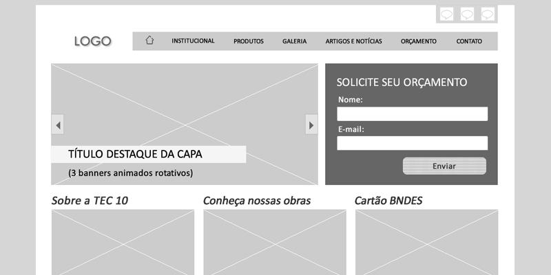 web design site wireframe